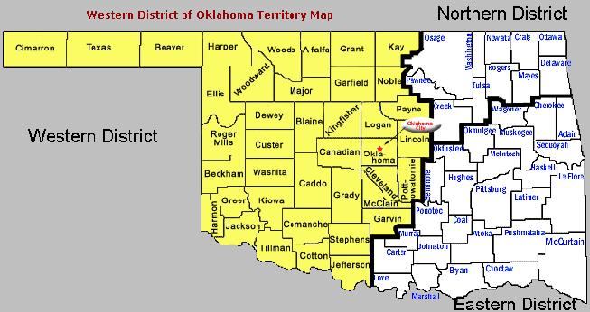 District Map Western District Of Oklahoma United States - Ok map